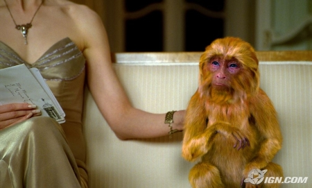 """The Golden Monkey,"" the familiar belonging to the witch played by Nicole Kidman in The Golden Compass."