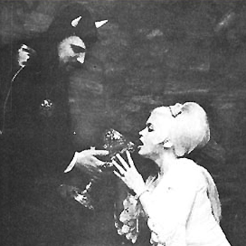 Anton LaVey and his new religion attracted many of the rich and famous, especially those in Hollywood such as Jayne Mansfield pictured above. You might not recognize Mansfield, but I bet you recognize her daughter...