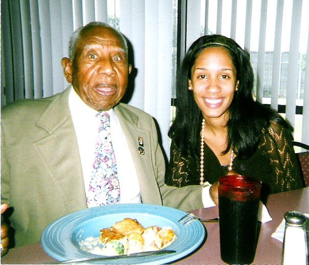"Bishop Otis ""Dad"" Clark, Greenwood Race Riots Survivor and me in the cafeteria at Oral Roberts University in August 2006."