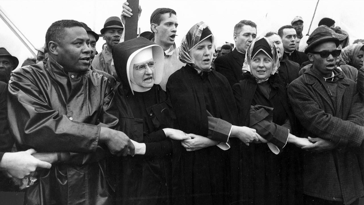 White nuns marching at Selma.