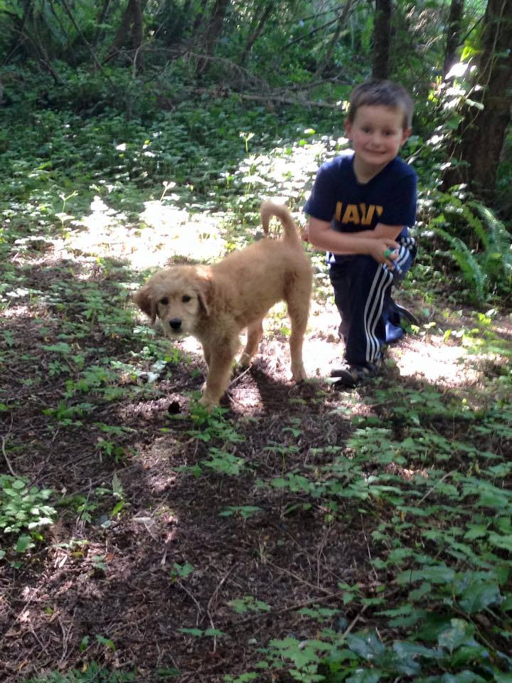RUBY      Here's an update on our sweet Ruby who is now 12 weeks old. She is super smart and loves her 5 year old boy!— with  Monica McDaniel .