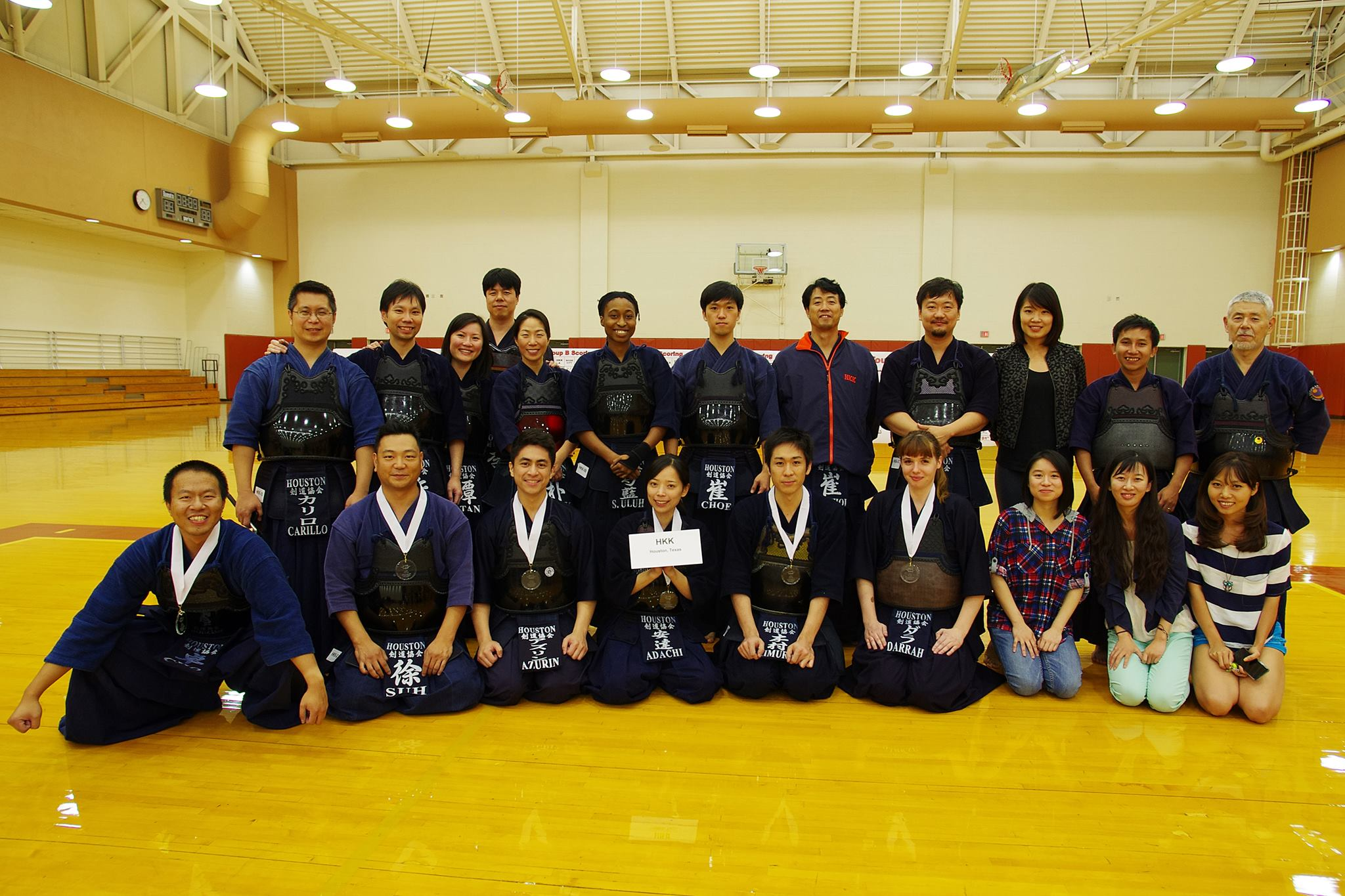 HKK members - 3rd place in 2015 Longhorn Invitational Kendo Team Taikai - Austin, TX