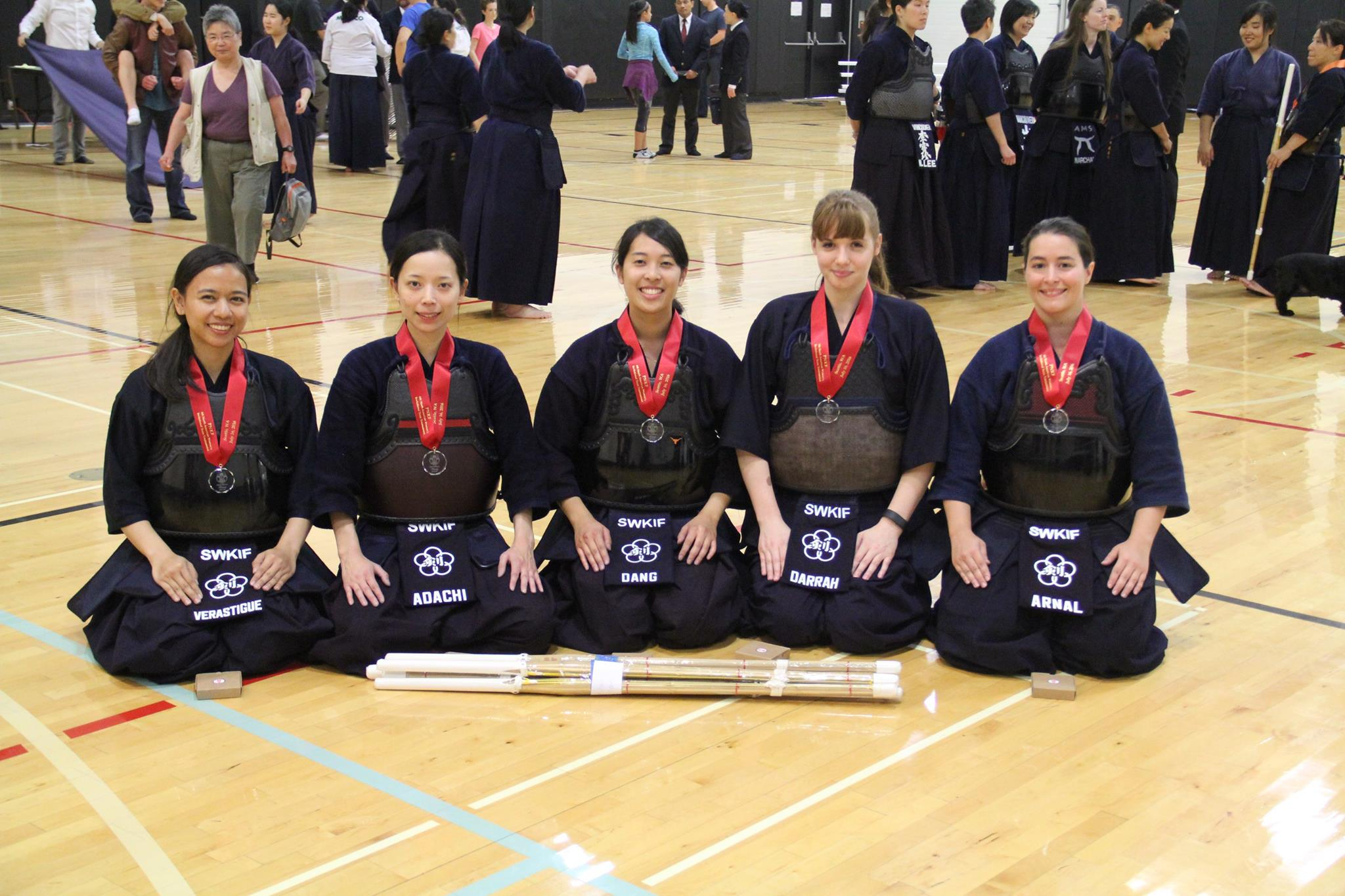 SWKIF Ladies - 2nd place in team division - The 6th PNKF North American Women's Kendo Taikai - Seattle, WA