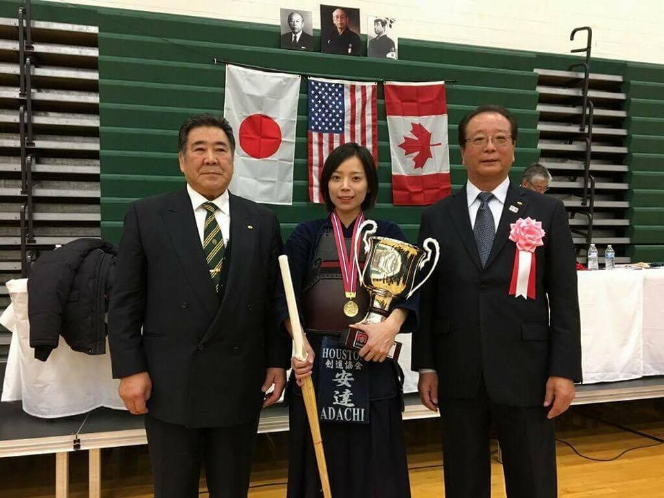 Makiko Adachi Sensei Wins 2017 Detroit Women's Division second year in a row.