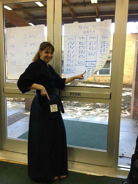 Alexandra Darrah Sensei passed her 4 dan test.