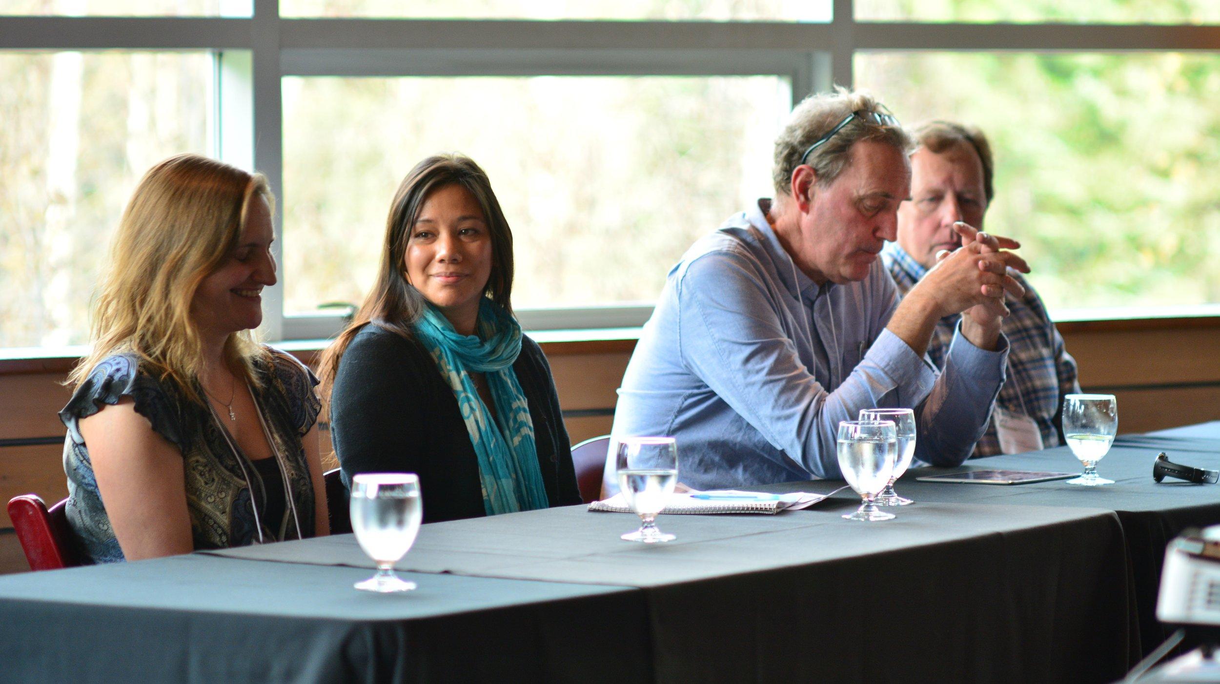 Dr. Sue Senger, St'át'imc Government Services, Jolene Patrick, Coast to Cascades Grizzly Bear Initiative,Tony Hamilton, BC Ministry of Environment & Johnny Mikes, Coast to Cascades Grizzly Bear Initiative.