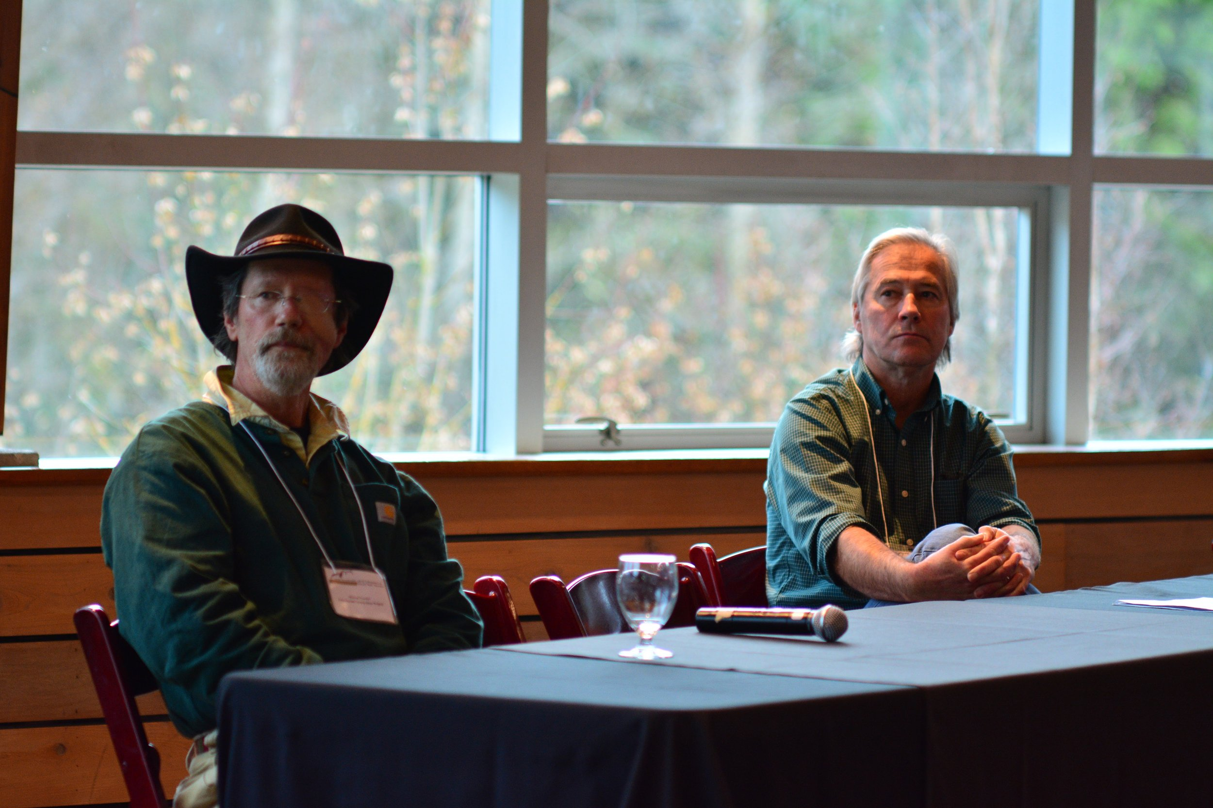 Michael Proctor of the Trans-Border Grizzly Bear Project & Jack Oelfke of the US National Park Service.