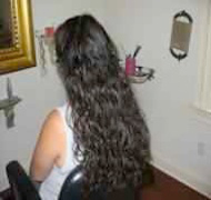 When she left me she had a head of gorgeous curls.