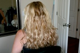 She has been wearing my extensions for the past 10 months and now has some regrowth, watch this space for pictures soon.