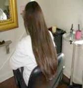Now she has hair like a shampoo advert!!