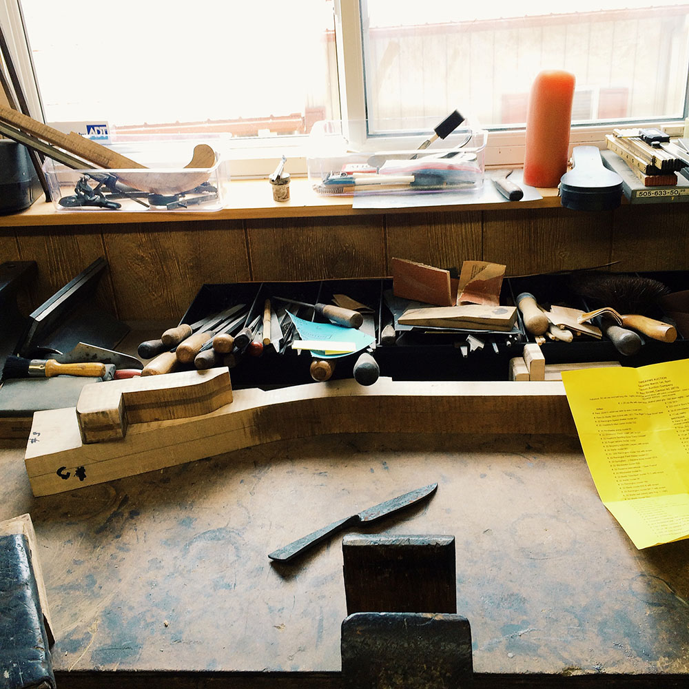 One of the workbenches