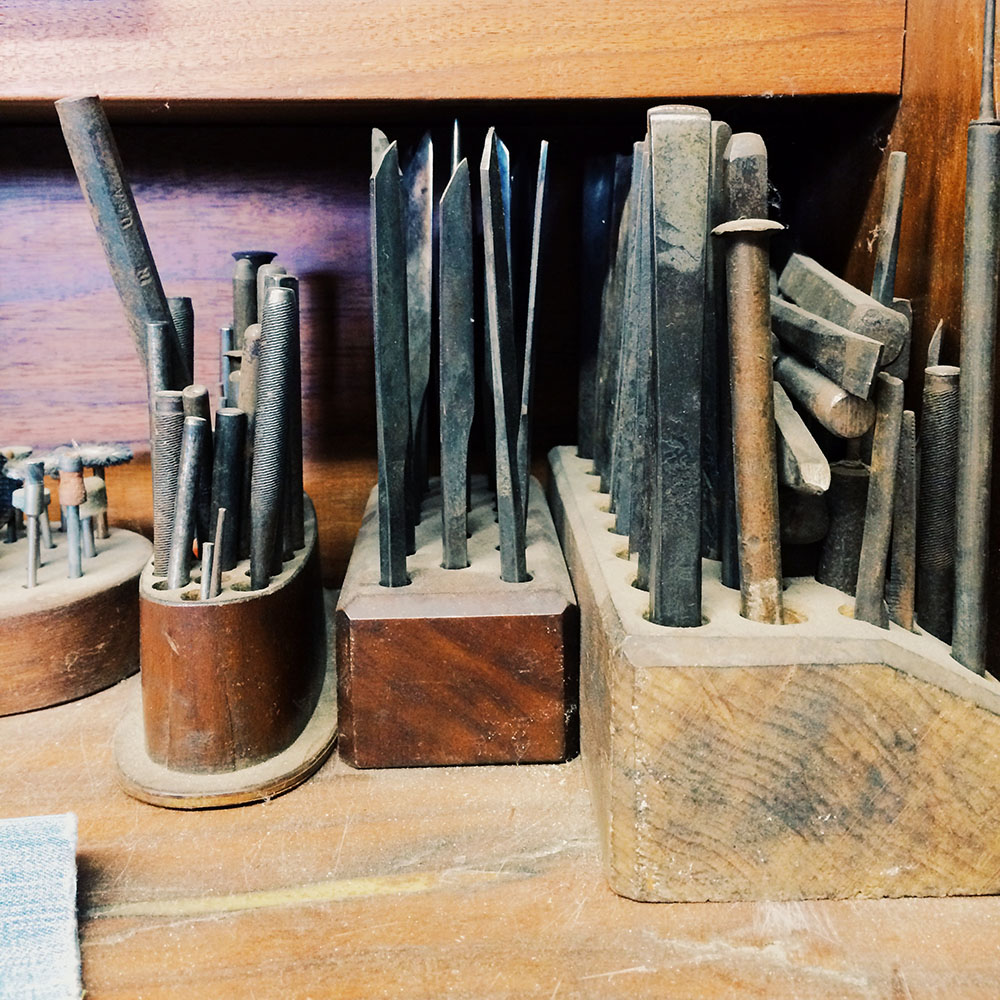 Chisels and stamps