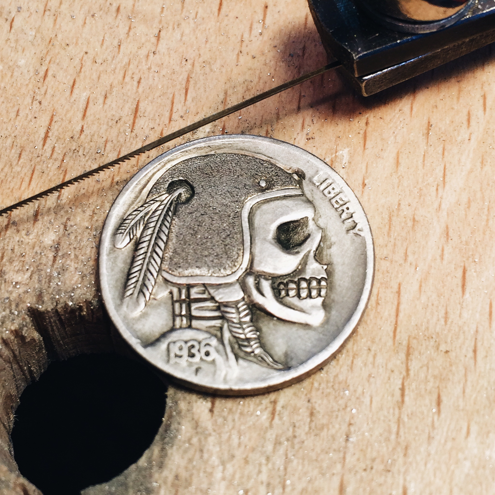 1 The fresh carved nickel