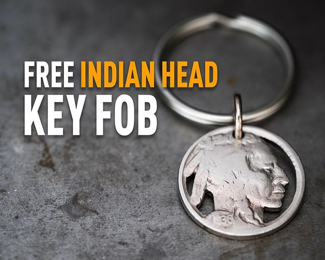 DAMN RIGHT // That's right, free Indian head key fob with orders over $150 through the end of March.  #indianheadnickel #handmadejewelry #atlantamade #idothisforaliving #trythisathome #menjewelry #hobonickel #silverpiston