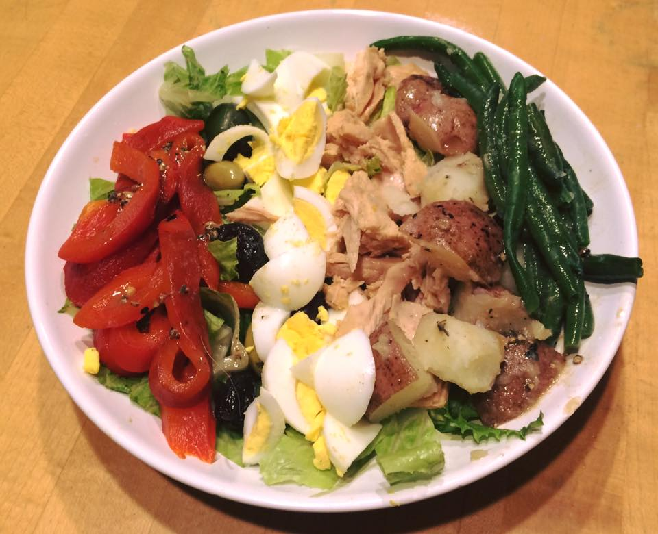 Another take on a salade nicoise from earlier this year