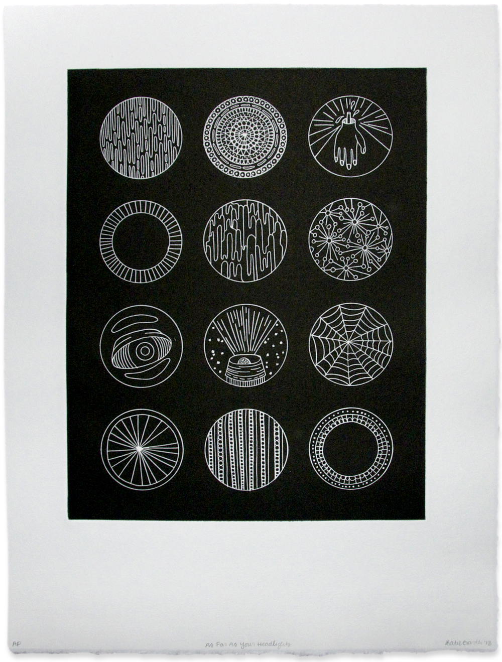 As Far As Your Headlights, relief etching, 20 x 30