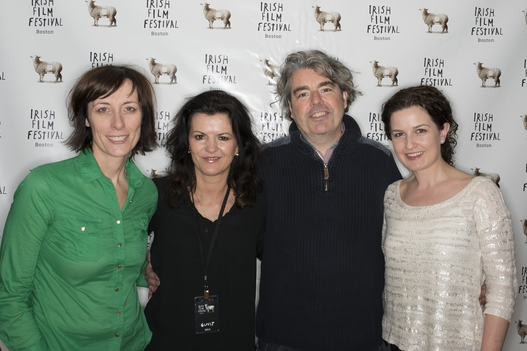 Dawn Morrissey, actress Deirdre O'Kane, Director Stephen Bradley and Siobhan Fanning before the screening of  NOBLE
