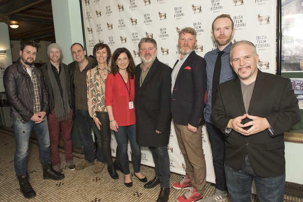 Our film makers with festival director, Dawn Morrissey and festival producer, Siobhan Fanning