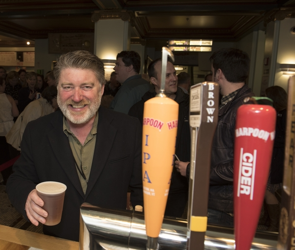Pat Shortt grabs a pint at the Somerville Theatre