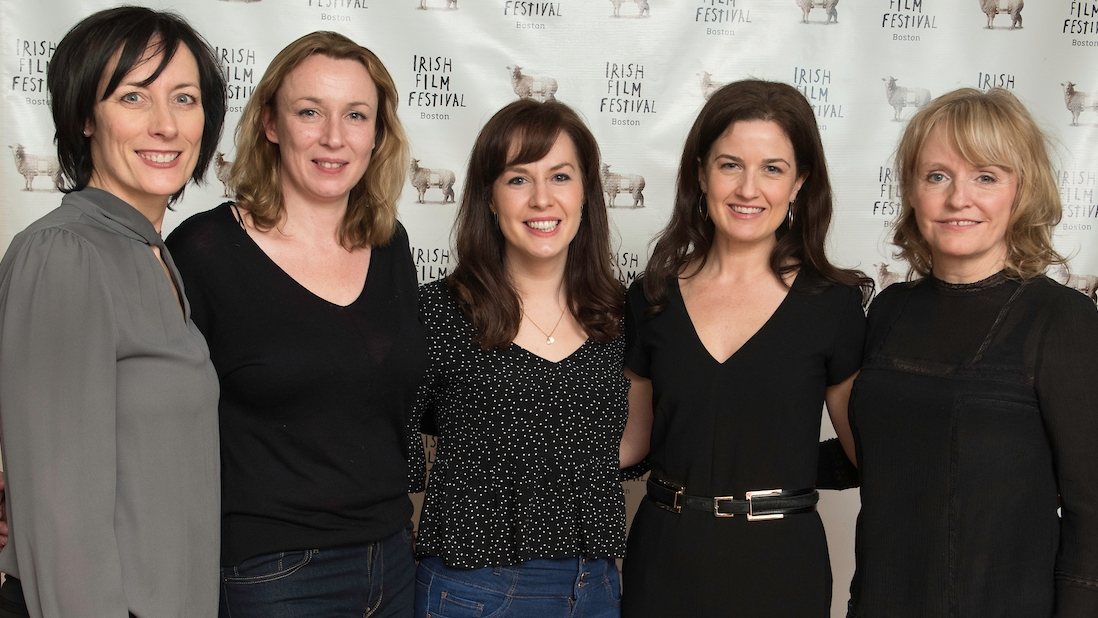 Dawn Morrisey (Director, Irish Film Festival, Boston), Roisin Kearney (Writer and Director,  The Family Way ), Edel Fox (Producer,  Noel Hill: Broken Dream ), Siobhan Fanning (Producer, Irish Film Festival, Boston), Emer Reynolds (Director,  The Farthest )