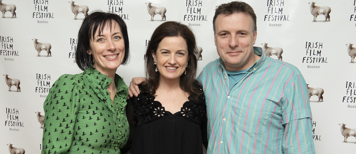 Dawn Morrissey, Siobhan Fanning and Director Liam O Mochain (LOST AND FOUND)