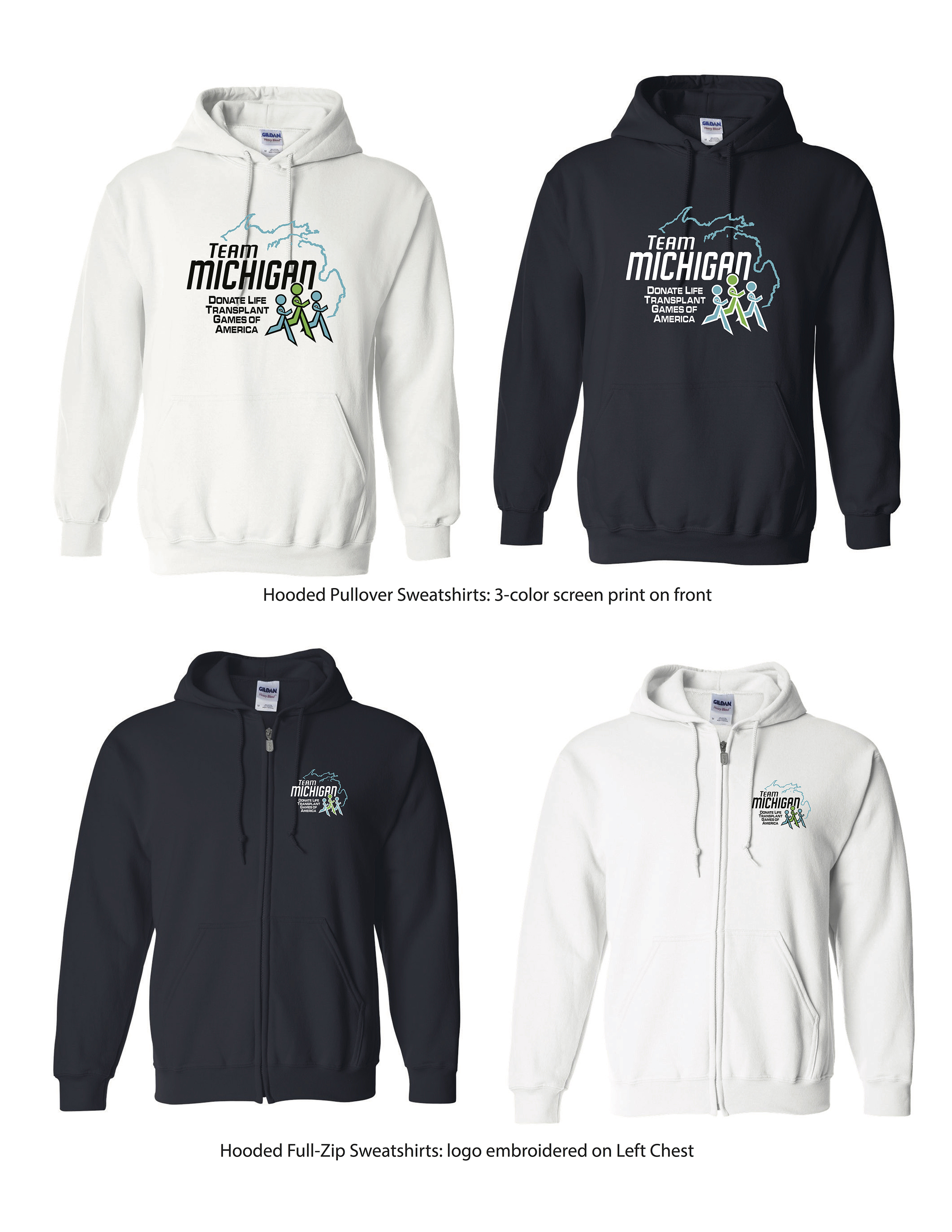 Hooded Sweatshirts-Pullover and Full Zip
