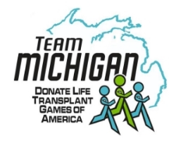 Team Michigan Donate Life Transplant games of America 2016 Member Handbook Download