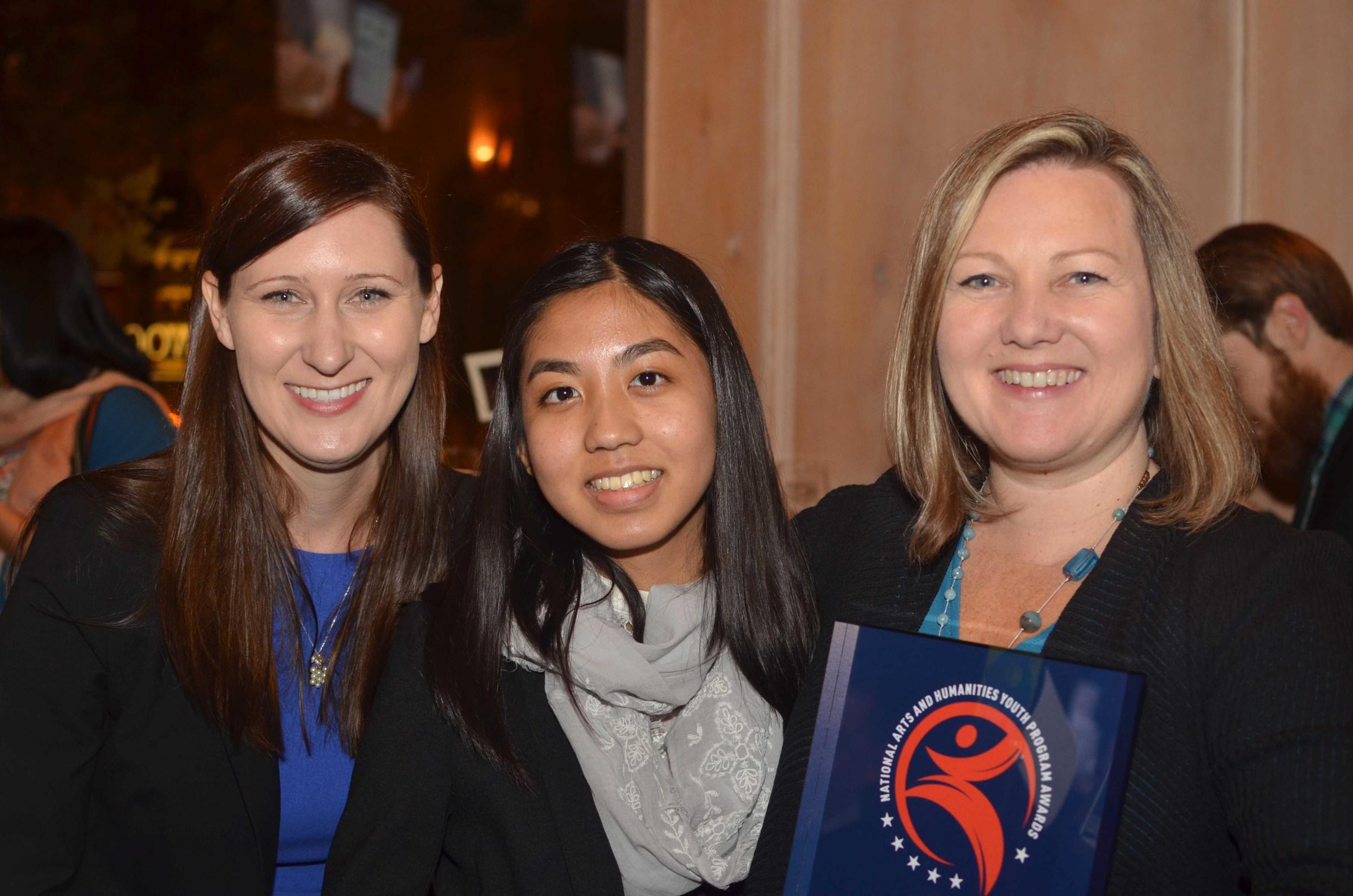Mentor Katie Geyer, mentee Jackie, and Keren Taylor!