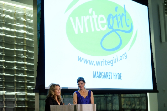 WriteGirl Supporter Margaret Hyde and host Norah O'Donnell from CBS This Morning