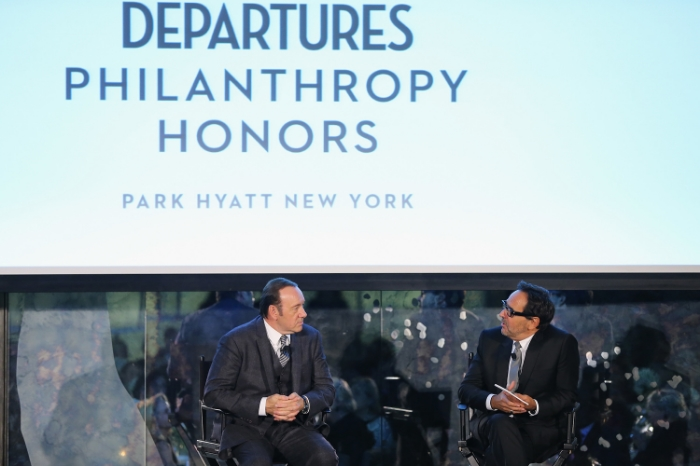Kevin Spacey at the Departures Magazine Philanthropy Honors Gala