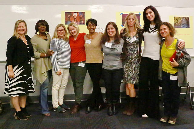 executive director keren taylor and the female journalist panelists from the day