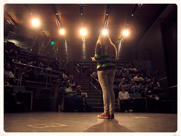 writegirl on stage