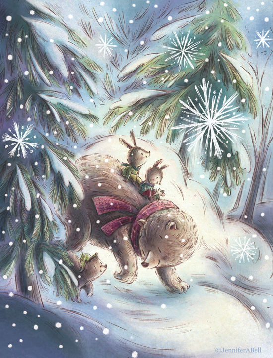 winter bear and rabbit. Illustrated by Jennifer A. Bell