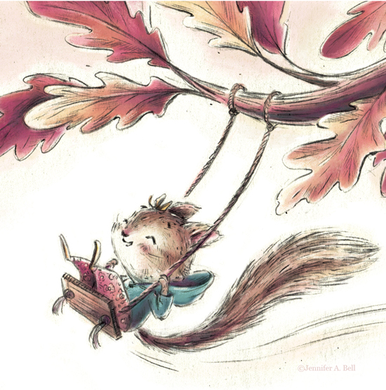 swinging squirrel. Illustrated by Jennifer A. Bell