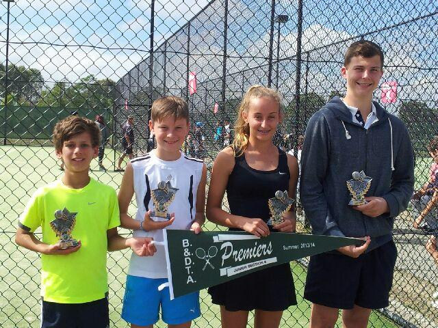Congratulations to George, Keaton, Rachel and Trent who pulled out a thrilling come from behind victory with the teams tied at the end of all sets, finally winning 9 7 in the pressure packed deciding doubles tie break.. Great job team! Never in doubt!