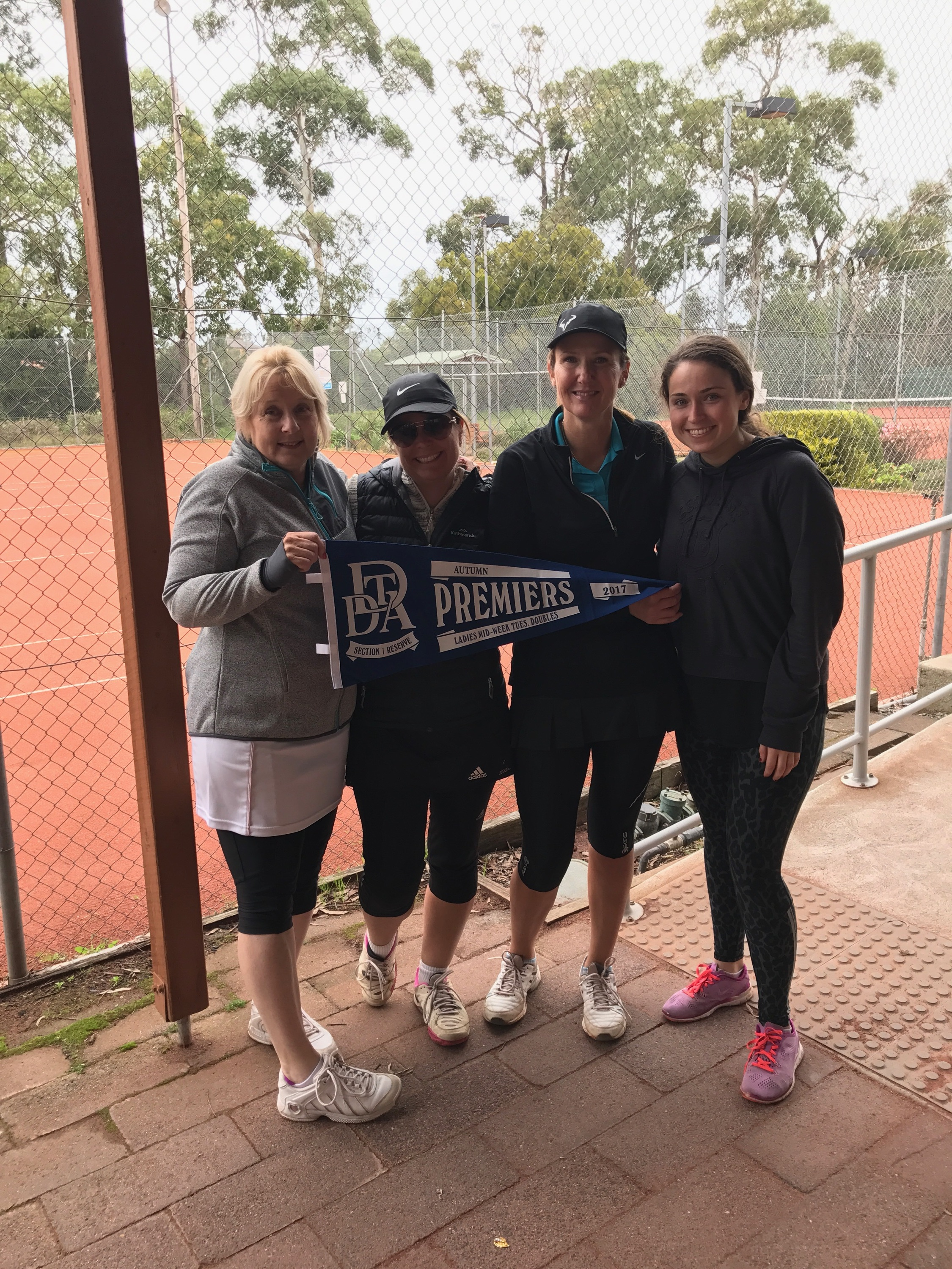 DDTA Tuesday Section 1 Premiers - Autumn 2017  Robyn Noone, Jodie Radings, Trish Devine, Molly Delaney (Absent - Caryn Greene)  Congratulations ladies.