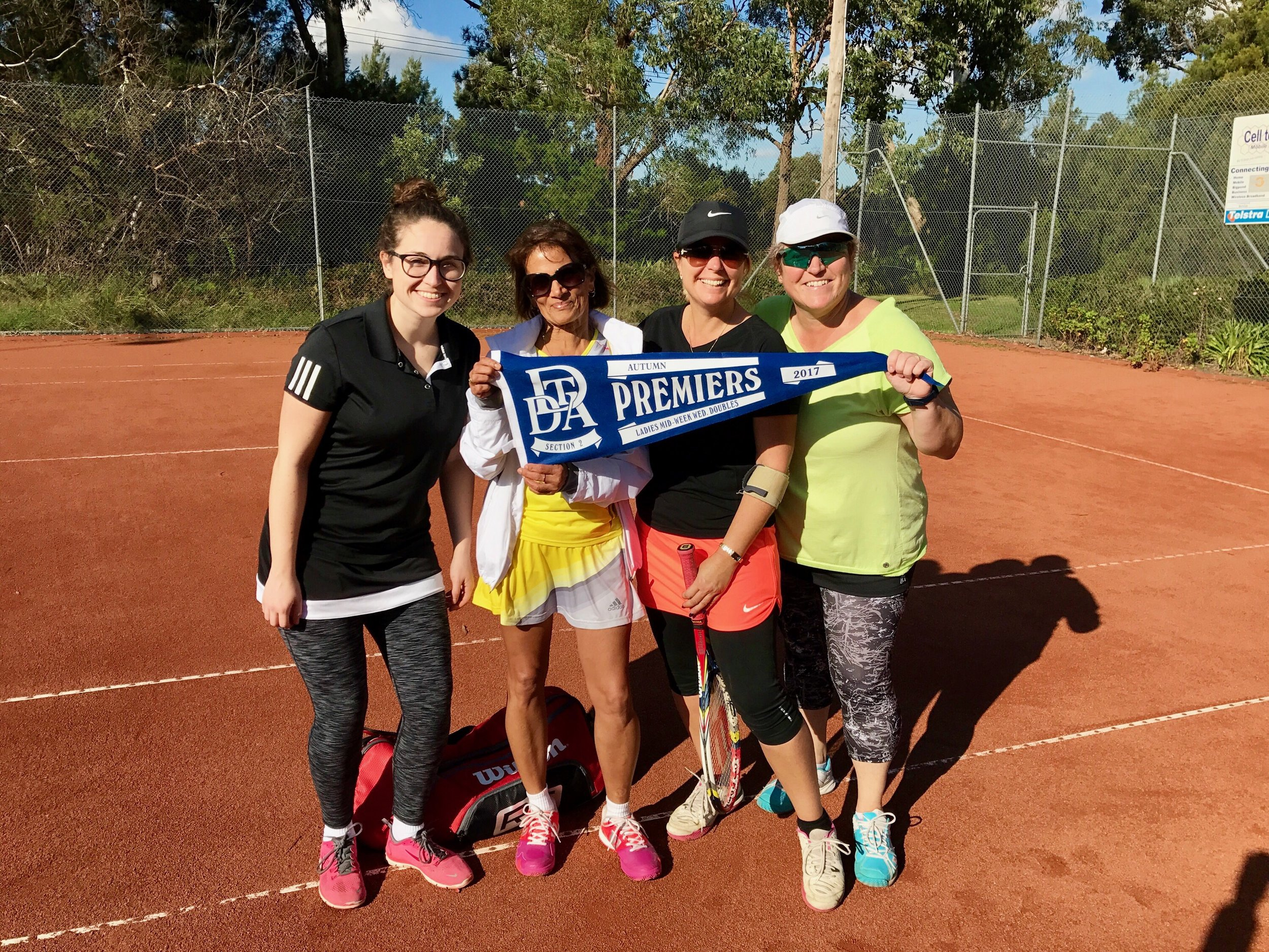 DDTA Wednesday Section 2 Premiers - Autumn 2017  Molly Delaney, Kitty Jayasinha, Jodie Radings, Kate Delaney (Absent -Felicity Tivendale, Caryn Green, Susan Defabritzio)  Congratulations ladies