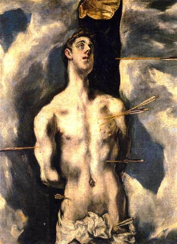 St. Sebastian by El Greco. Oil on canvas. image source: http://www.wikiart.org/en/el-greco/st-sebastian-2?utm_source=returned&utm_medium=referral&utm_campaign=referral