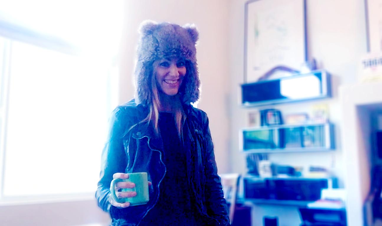 Fuzzy hat morning, Nov 2015.