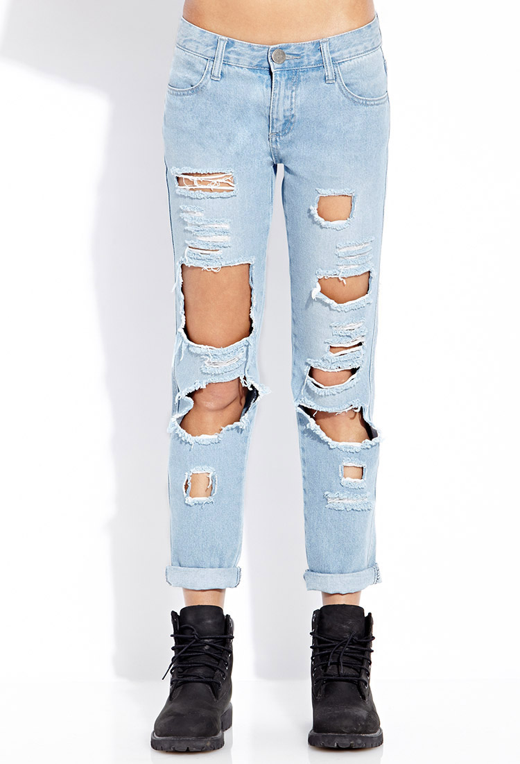 Street Chic Destroyed Jeans Forever 21- $24.80