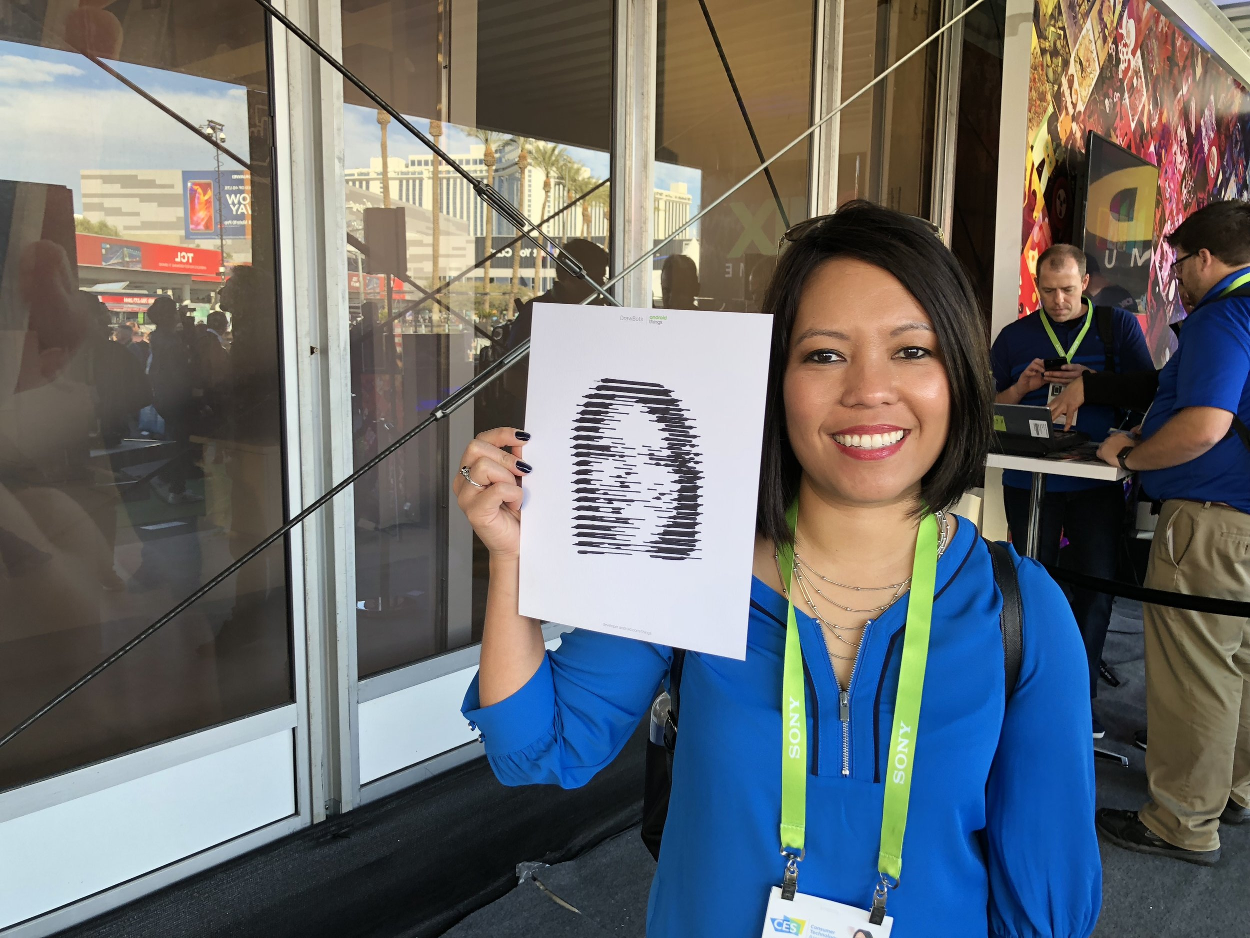 Android Things Drawbot drew my selfie!