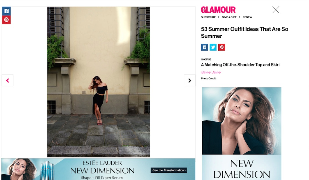 Glamour Magazine: 53 Summer Outfit Ideas That Are So Summer