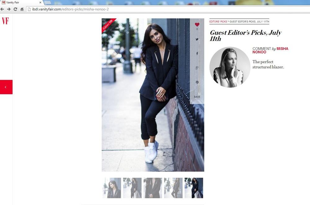 Vanity Fair Editors Picks