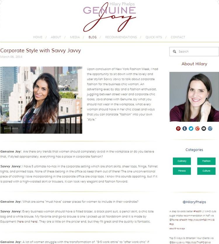 Hilary Phelps' Genuine Joy Blog
