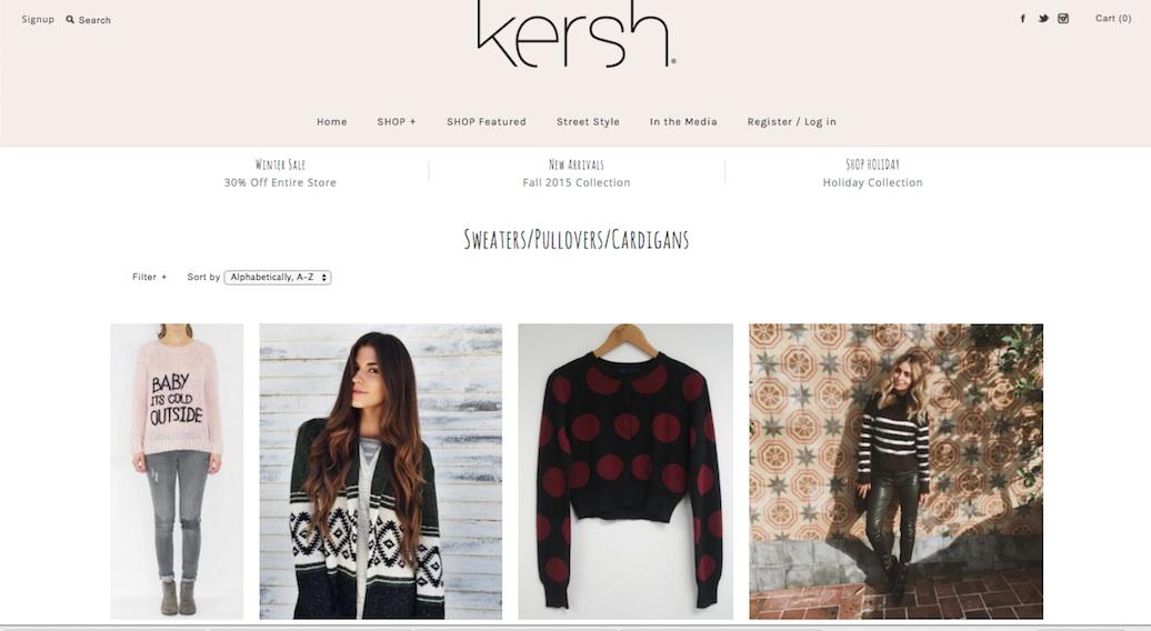 Kersh Clothing Website