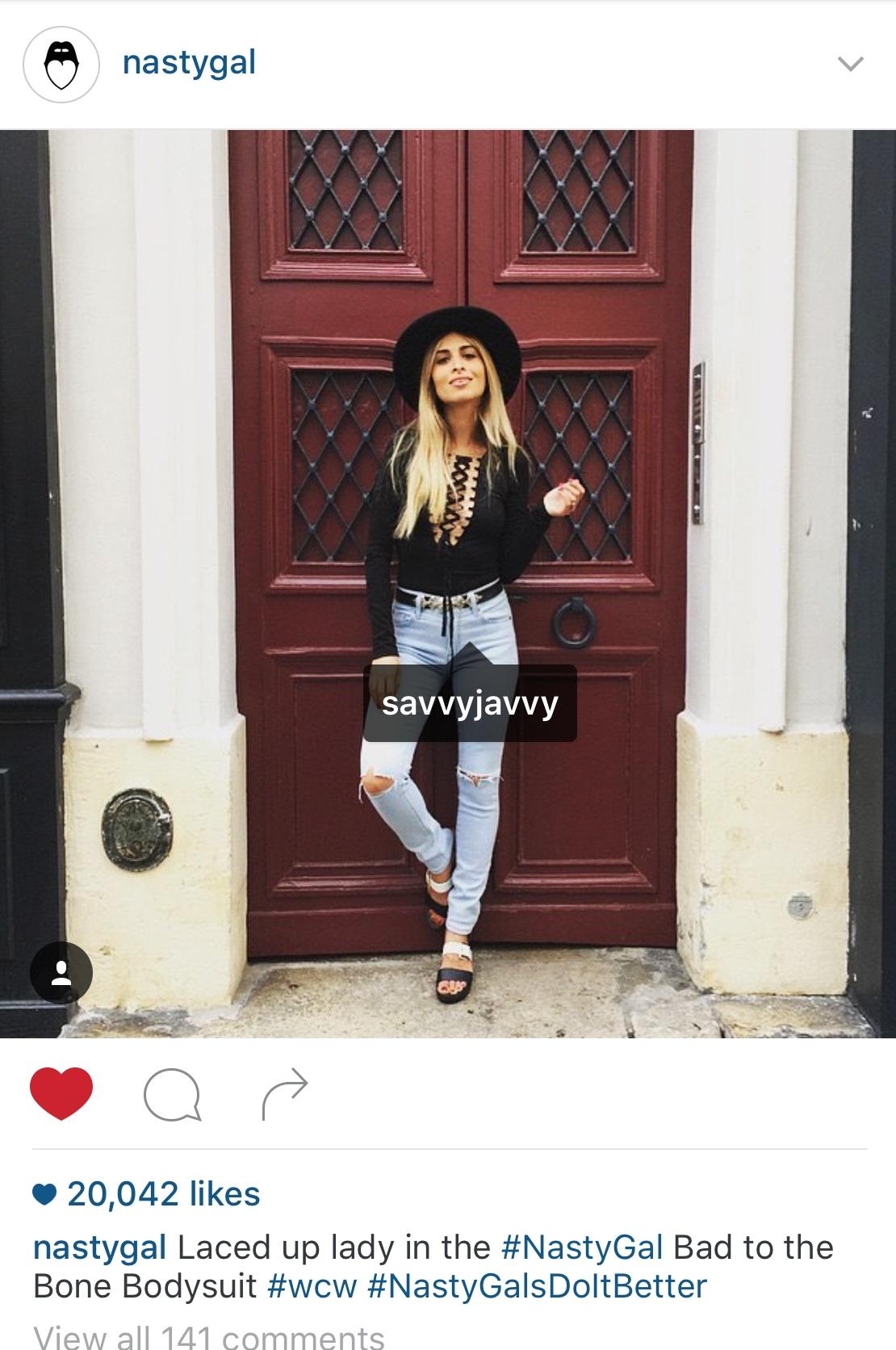 Nasty Gal's Instagram