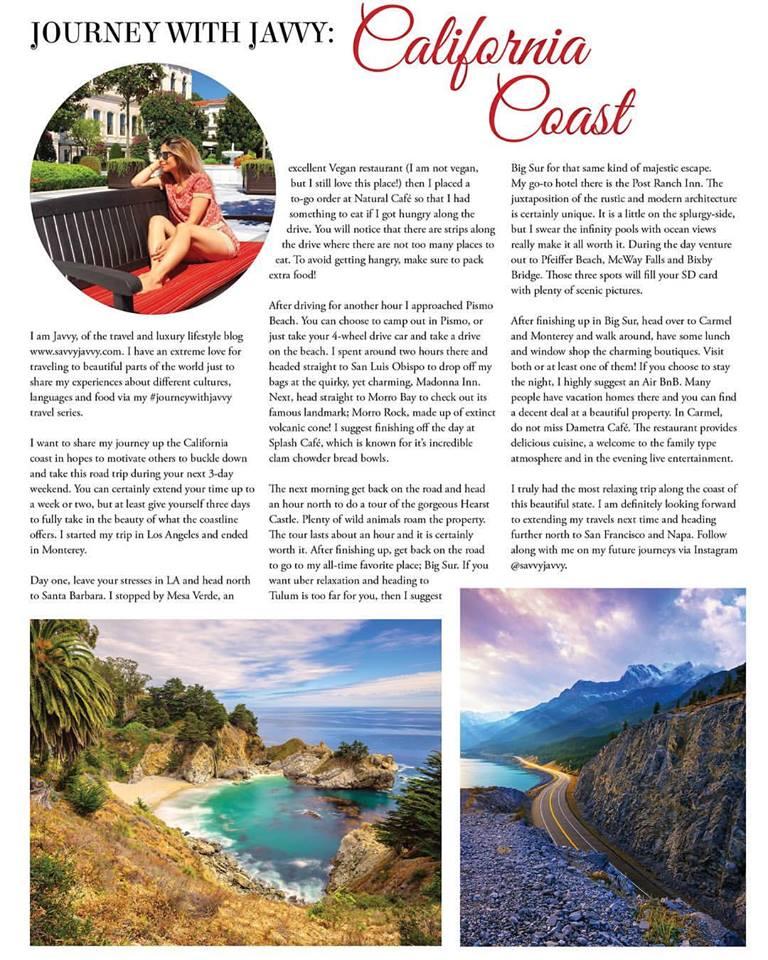LA Magazine - Contributing Writer - #journeywithjavvy California Coast Series