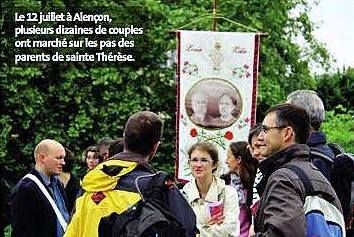 July 12 at Alencon: several dozen couples walked in the steps of the parents of Saint Therese