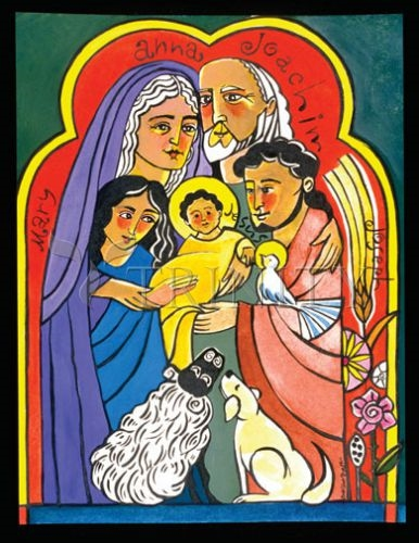 The extended holy family, an icon by brother michael o'neill mcgrath, osfs. available from    trinity icons   PURCHASES THROUGH THIS LINK SUPPORT THIS WEB SITE. THANK YOU.