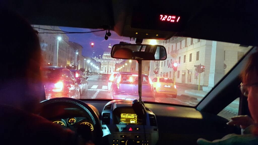 Taking a cab to the canonization